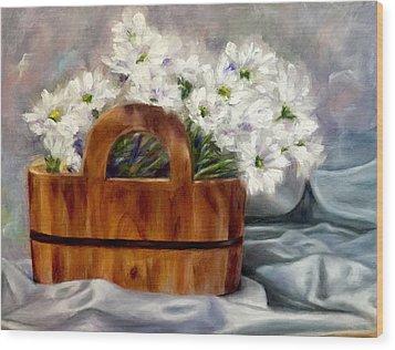 Les Fleurs D'ete Wood Print