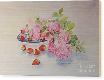 Wood Print featuring the painting Les Fruits De L'ete by Beatrice Cloake
