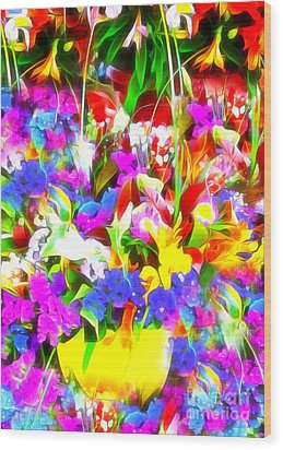 Les Jolies Fleurs Wood Print
