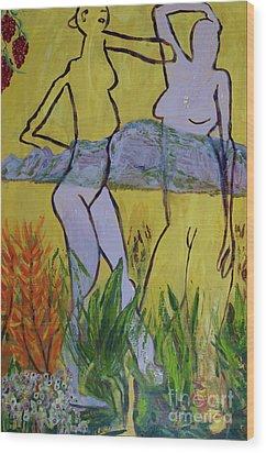 Les Nymphs D'aureille Wood Print by Paul McKey