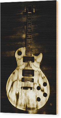 Les Paul Guitar Wood Print by Bill Cannon