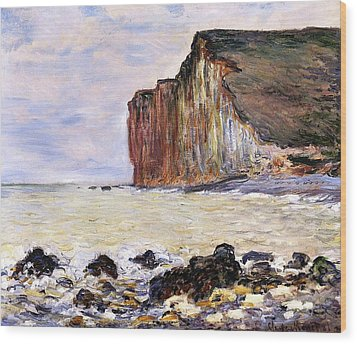 Les Petites Dalles Wood Print by Claude Monet