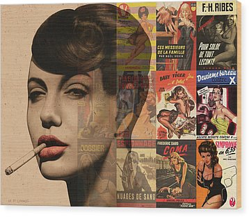 Les Pulps Francaises Wood Print by Udo Linke