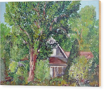 Lesher Homestead Boulder Co Wood Print