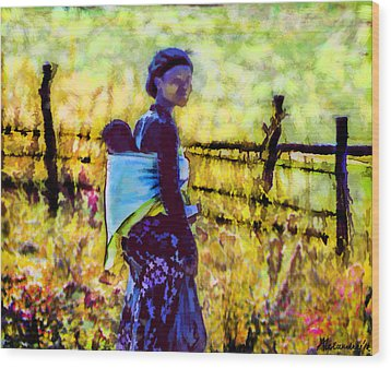 Lesotho Woman Wood Print by Alexandra Jordankova