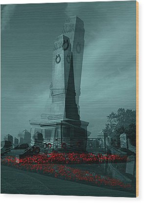 Wood Print featuring the photograph Lest We Forget. by Keith Elliott