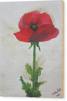 Lest We Forget Wood Print by Trilby Cole