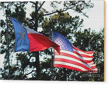 Wood Print featuring the photograph Let Freedom Ring by Kathy  White