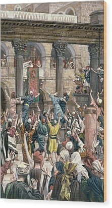 Let Him Be Crucified Wood Print by Tissot