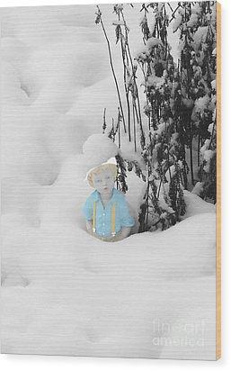Let It Snow Wood Print by Al Bourassa