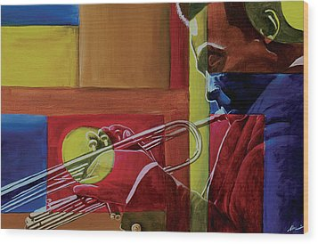 Let Me Play Wood Print by Stacy V McClain