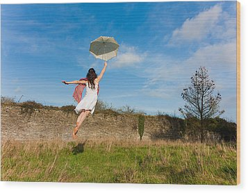 Let The Breeze Guide You Wood Print by Semmick Photo