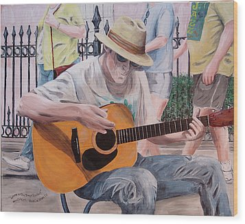 Let The Good Times Roll-new Orleans Blues Wood Print by Kevin Callahan