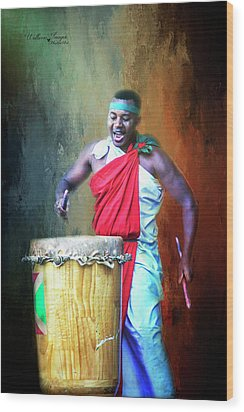 Wood Print featuring the photograph Let There Be Drums by Wallaroo Images