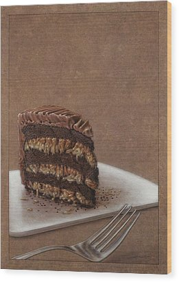 Let Us Eat Cake Wood Print by James W Johnson