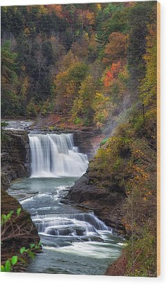 Letchworth Lower Falls 3 Wood Print