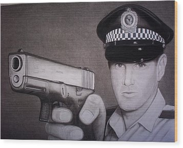 Lethal Force Wood Print by Brendan SMITH