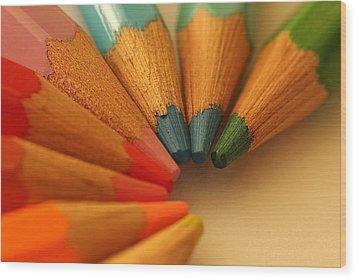 Lets Be Creative Wood Print by David Warrington