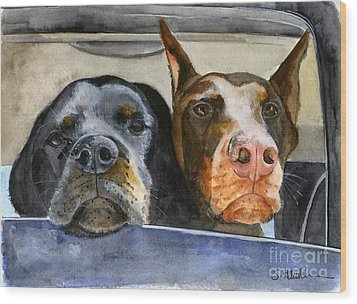 Let's Go For A Ride Wood Print by Sheryl Heatherly Hawkins