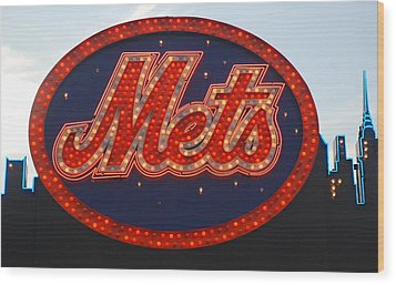 Lets Go Mets Wood Print