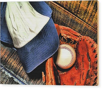 Let's Play Ball Wood Print by Jimmy Ostgard