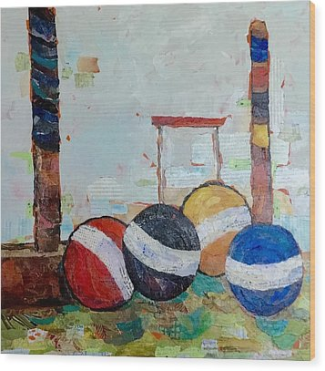 Let's Play Croquet Wood Print