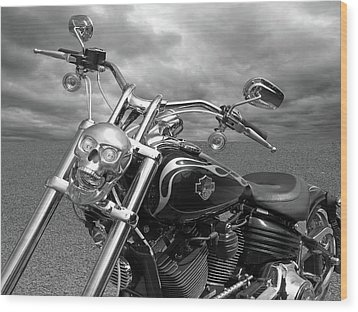 Wood Print featuring the photograph Let's Ride - Harley Davidson Motorcycle by Gill Billington