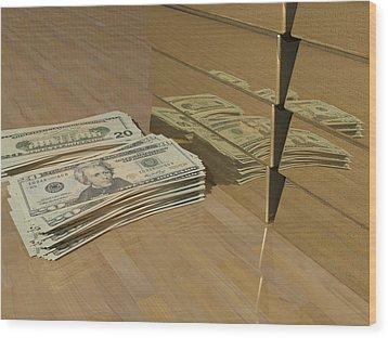 Level One Money Manifestation  Wood Print
