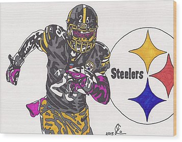 Le'veon Bell 2 Wood Print