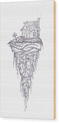 Levity Wood Print by Luke Cain