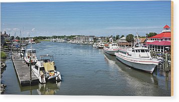 Wood Print featuring the photograph Lewes Delaware by Brendan Reals