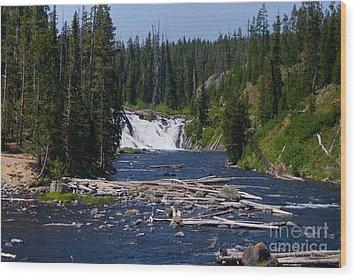 Lewis Falls Yellowstone Wood Print