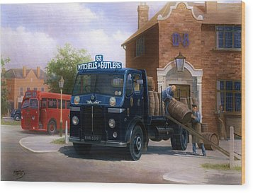 Leyland Dray. Wood Print by Mike  Jeffries
