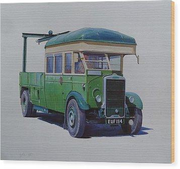 Leyland Southdown Wrecker. Wood Print