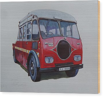 Wood Print featuring the painting Leyland Wrecker Cie by Mike Jeffries