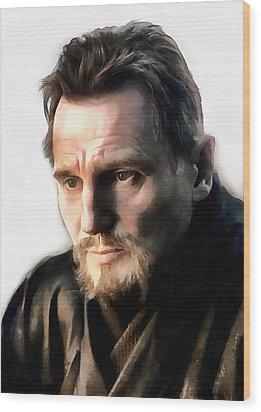 Liam Neeson Wood Print