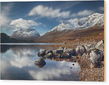 Wood Print featuring the photograph Liathach by Grant Glendinning