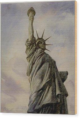 Liberte Wood Print by Vladimir Rumianzev
