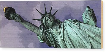 Liberty 3 Wood Print by William  Todd