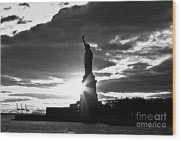 Wood Print featuring the photograph Liberty by Ana V Ramirez