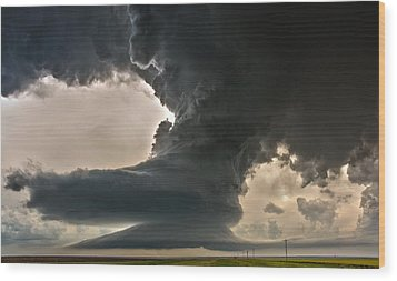 Liberty Bell Supercell Wood Print