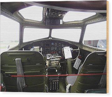 Liberty Belle B17 Cockpit Wood Print