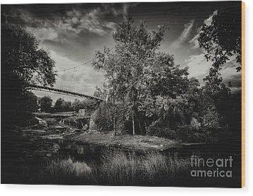 Liberty Bridge Greenville Sc Wood Print