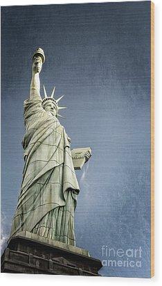 Liberty Enlightening The World Wood Print by Charles Dobbs