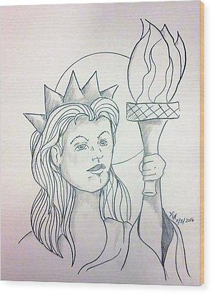 Liberty Wood Print by Loretta Nash