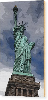 Liberty Poster Wood Print by William  Todd