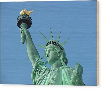 Liberty Stand Tall Wood Print