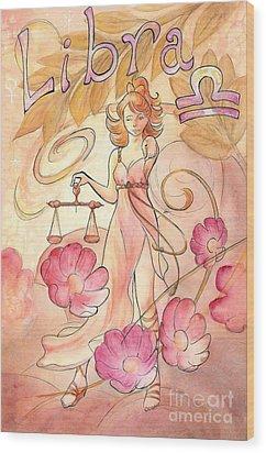 Libra Wood Print by Arwen De Lyon