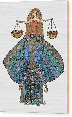 Libra Wood Print