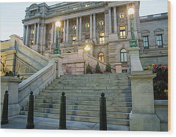 Library Of Congress Wood Print by Greg Mimbs